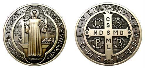 Oración San Benito Medalla La Poderosa Oración Medalla De San Benito